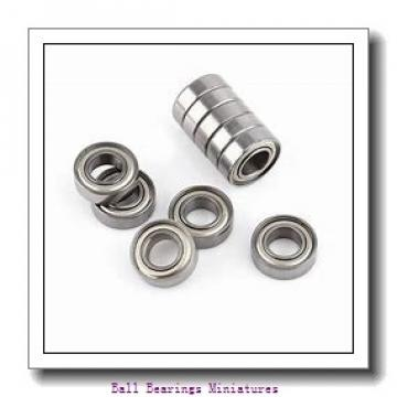 2.5mm x 8mm x 2.8mm  ZEN f602x-zen Ball Bearings Miniatures