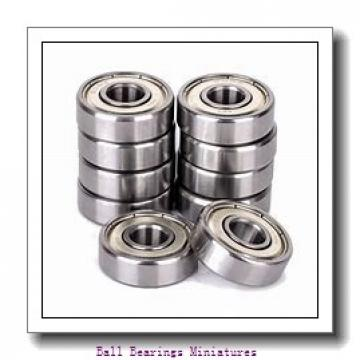 3mm x 8mm x 3mm  ZEN mr83-2z-zen Ball Bearings Miniatures