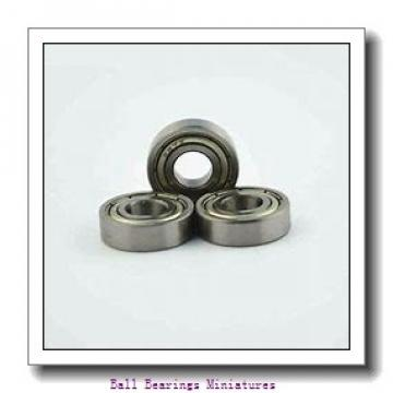 3mm x 6mm x 2.5mm  ZEN smf63-2z-zen Ball Bearings Miniatures