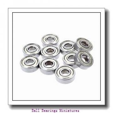 2.5mm x 8mm x 2.5mm  ZEN smr82x-zen Ball Bearings Miniatures